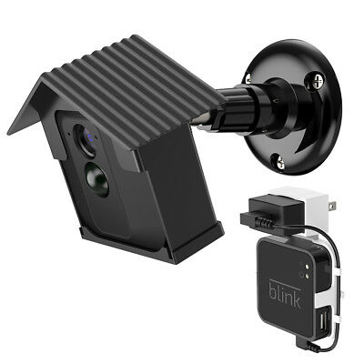 Wall Mount Bracket Housing Case Black for Blink XT Camera Weatherproof TH937