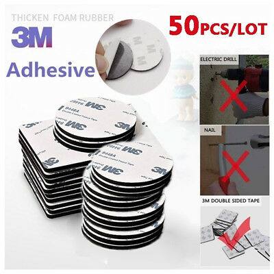 High Quality 50Pcs 3M Double Sided Tape Black Rounds/Square Strong Foam Tape