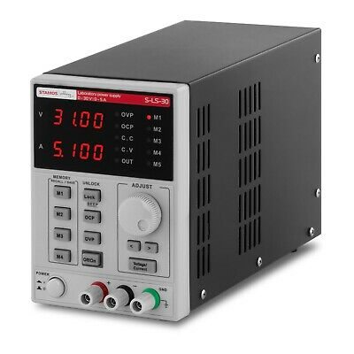 Bench Laboratory DC Power Supply Benchtop 4 Memory Spaces 0-30V, 0-5 A DC, 250 W