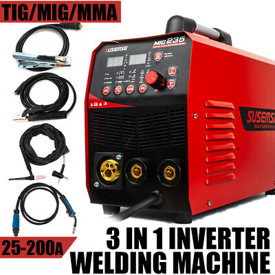 MIG200 220V TIG/MMA/MIG Inverter Welding Machine IGBT Digital Stick Welder &Kits