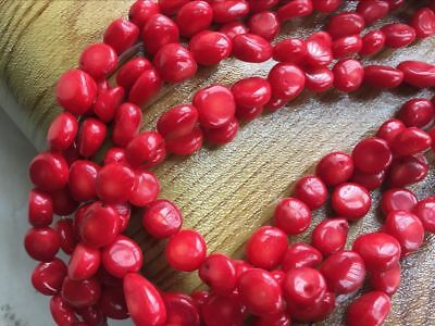"New 10mm natural Red Coral Freeform Loose Beads 15 /"" AAA"