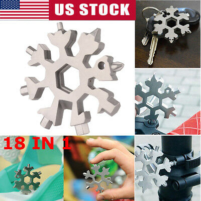 Snowflake multi-tool 18-in-1 functions Compact and portable outdoor products US