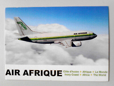 Postcard Air Afrique Post Card Africa African Ivory Coast Old New Top B737-300