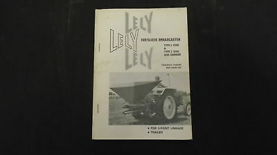 Lely Fertilizer Broadcaster Type L1250 Manual And Parts List