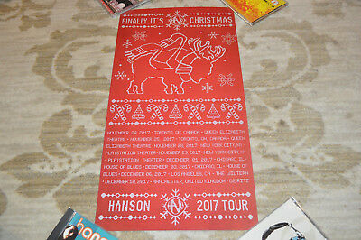 *RARE* Hanson RED Finally It's Christmas 2017 Tour Poster