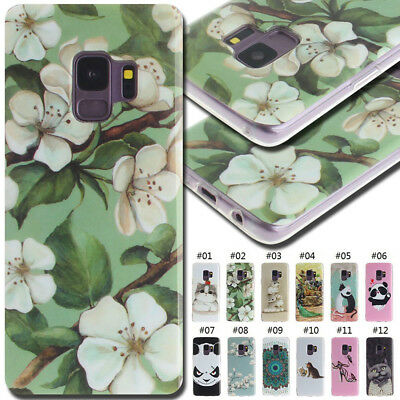 For Samsung Galaxy TPU Silicone Soft Fashion Rubber Various Skin Back Case Cover