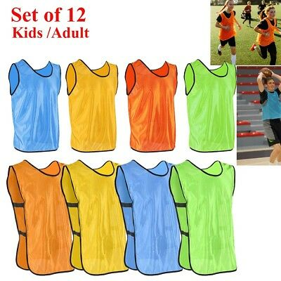 1a20c7b4d 12 Scrimmage Vests Soccer Basketball Football Child Youth Adult Pinnies  Jerseys