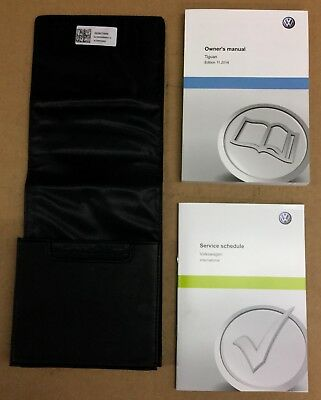 New Genuine VW Tiguan 2014> Owners Manual Handbook Wallet 152557TIG20