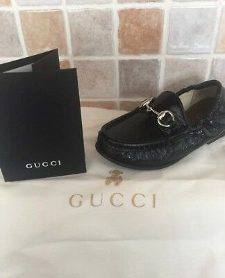 Gucci Boys Loafers Eu25 Designer Boxed Genuine Immaculate Worn Once Indoors