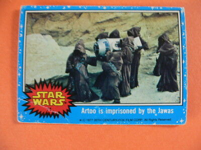 Star Wars. Topps Card. 1977. Artoo is Imprisoned by the Jawas.