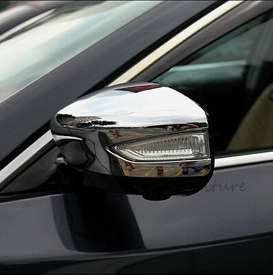 Chrome Side Rearview Housing Mirror Strips Cover trim For Nissan Altima 201-2018