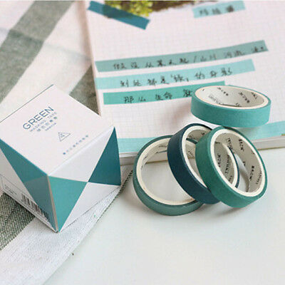 4pcs/set Solid Color DIY Paper Sticky Adhesive Sticker Decorative Washi Tape one