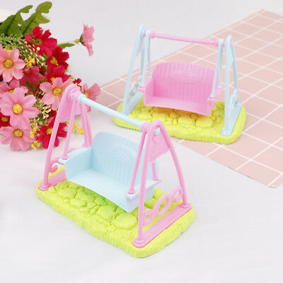 Swing Set For Doll Girl Doll Toy House Furniture Accessories  Z EB