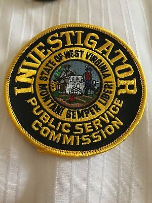WV West Virginia State Weight Enforcement Public Service Comm INV. Police Patch