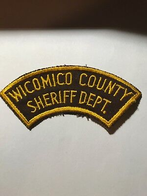 Vintage Cut Edge Border Wicomico Sheriff MD Maryland Police Patch
