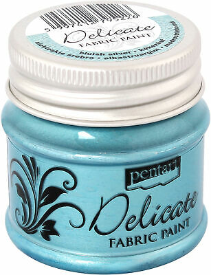 Delicate Fabric Paint 50ml-Bluish Silver