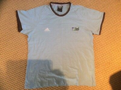 France 2007 rugby t shirt blue/brown - large