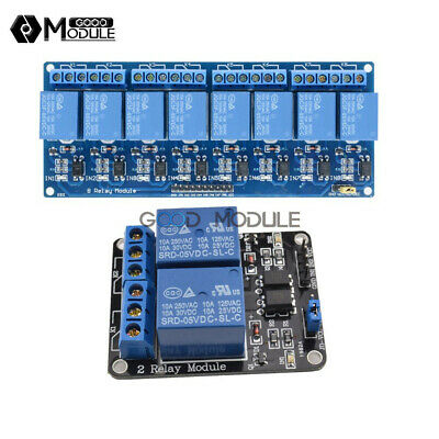 5V 2/8 Channel Relay Module With Optocoupler For Arduino PIC AVR DSP ARM