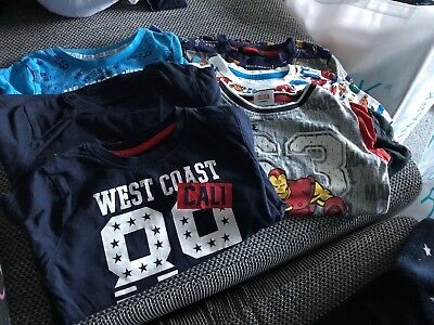 Boys Long & Short Sleeve Tshirt Bundle 2-3 Years
