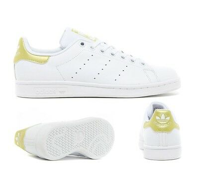 meilleur service 9c1ef b388d JUNIOR ADIDAS STAN Smith White/Gold Trainers (SF32) RRP £46.99