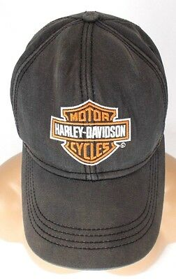 Harley Davidson Motor Cycles Hat Cap 7 1/8 Medium Pre Owned Good Condition Brown