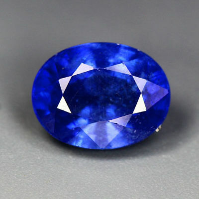 3.25 Cts_Top Breathtaking Round Brilliant Cut_100 % Natural Royal Blue Sapphire