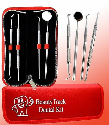 BeautyTrack Dental Teeth Whitening Stain Tartar Plaque Calculus Remover Tool kit