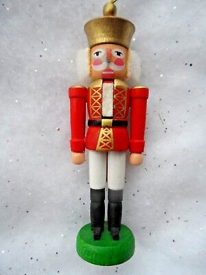 Vintage Christmas Ornament - WOOD NUTCRACKER ERZGEBIRGISCHE VOLKSKUNST-GERMANY