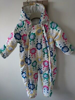 9998f24eaffe M S BABY GIRL boy lightly padded fully flecce lined snowsuit 12-18 ...