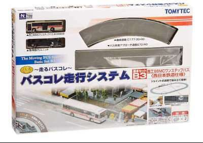 Tomytec Moving Bus System Basic Set B3 (Red Bus) N scale 1/150