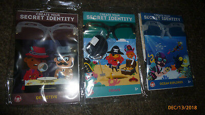 Wendy's Kids Meal Toys Create Your Secret Identity Lot of 3 Happy Meal Detective