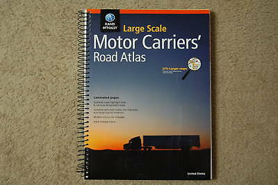 Rand McNally Large Scale Deluxe Motor Carriers Trucker Road Atlas Spiral