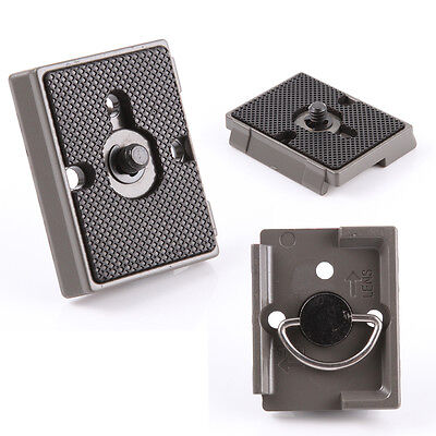 Camera Tripod Quick Release Plate Adapter fr Manfrotto 200PL-14 496 486 804 RC2