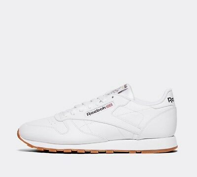 Mens Reebok Classic Leather White/Gum Trainers (SF32) RRP £64.99