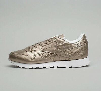 e216e63a1e93 Womens Reebok Classic Leather Metallic Grey Trainers (SF32) RRP £69.99