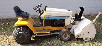 CUB CADET HYDRO #1420 Tractor w Motorized Snow Blower Hydrostatic 14HP-PTO