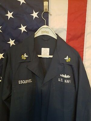 Orig US Navy Coverall Utility 48XL, Working Coverall Crew US Marine Seabees USN