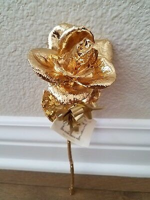 Gold Dipped 24k Real American Rose Valentines  Birthday Mothers Day Engagement