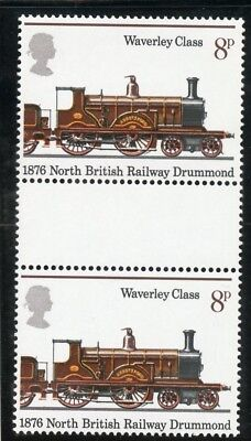 "gb stamps GB Gutter Pairs ""150th Anniv Public Railways""."