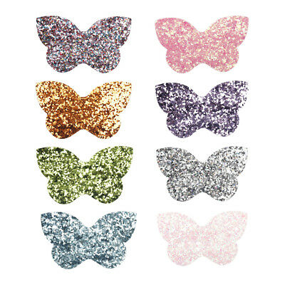 10pcs/lot Cute Glitter Butterfly Iron-On Patches DIY Sewing Applique Accessories