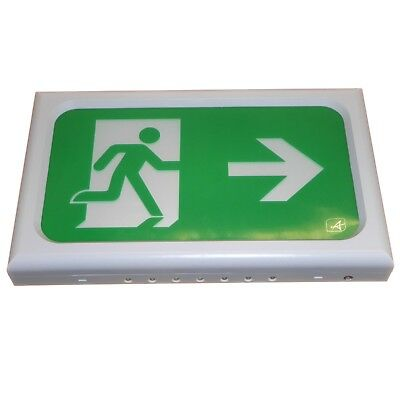 LED Emergency Exit Light with Up / Down / Left / Right Arrow Sign 3hr Battery