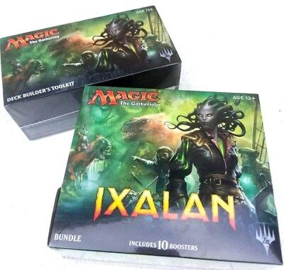 LOT OF 2 Magic the Gathering Ixalan Booster Box Bundle Deck Builders Toolkit MTG