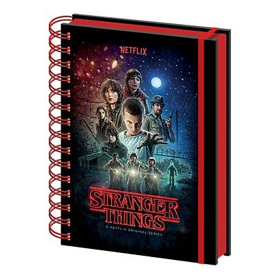Genuine Stranger Things One Sheet Poster A5 Hardback Notebook Journal Pad