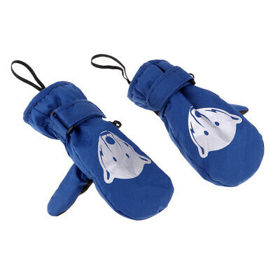 Reflective Kids Baby Waterproof Gloves Winter Snow Mittens Mitts for Skiing