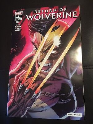 Return Of Wolverine #1 Campbell Nycc 2018 Variant Glow In The Dark Sold Out 1214