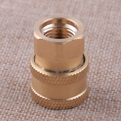 """Pressure Washer 1/4"""" Female NPT Brass Quick Connect Socket Adapter Coupler"""