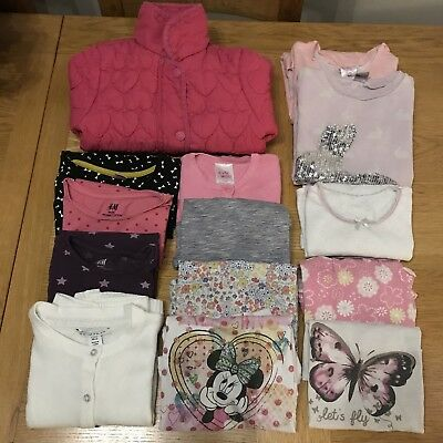 Girl's Tops Bundle- Jumper, T-shirt, Cardigan. Bext, H&M, Disney, TU. 2-3 / 3-4