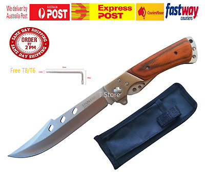 Large Folding Knife Camping Fishing Outdoor Small Bowie Pocket Bush Extended EDC