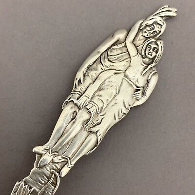 Native American Lake George NY Sterling Silver Figural Indian Souvenir Spoon P&B