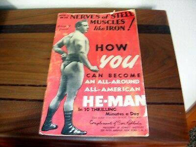Vintage George F. Jowett System of Health, Strength and Muscle Building brochure